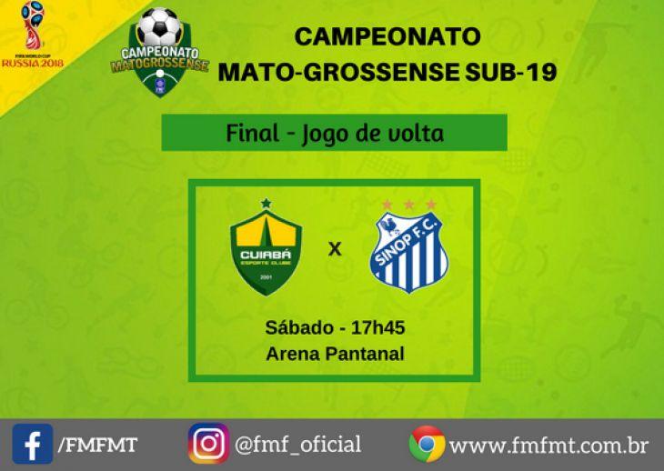 ed1c7ba9a6 Título do Mato-grossense Sub-19 será decidido amanhã na Arena